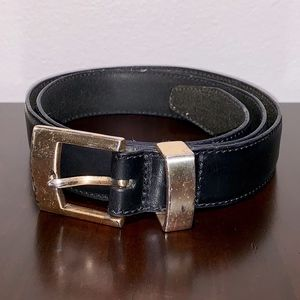 Women's Fossil Black Leather Belt